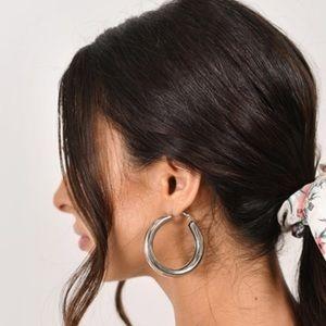 ✨Brand New Thick Hoop Earrings in Silver
